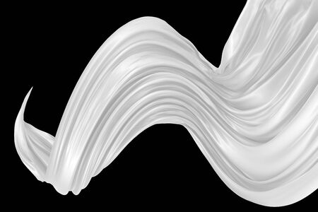 Abstract background of colored wavy silk or satin. 3d rendering image.