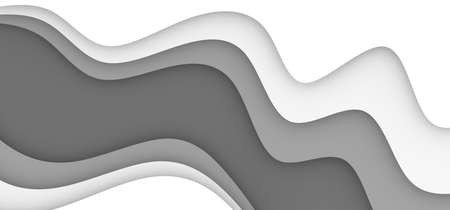 Background with grey and white color paper cut shapes. 3D abstract paper art style, design layout for business presentations, flyers, posters, prints, brochure cover, decoration, cards.