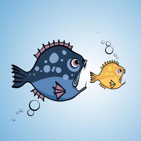 angry big fish Vector