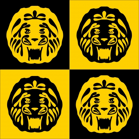 lion with a gold mane Vector