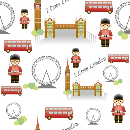 beautiful seamless patterns the journey to London Stock Vector - 17297457