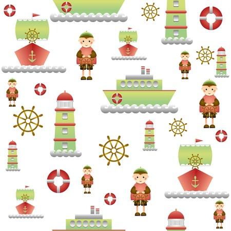 a beautiful background for the children s package of gifts marine theme Vector