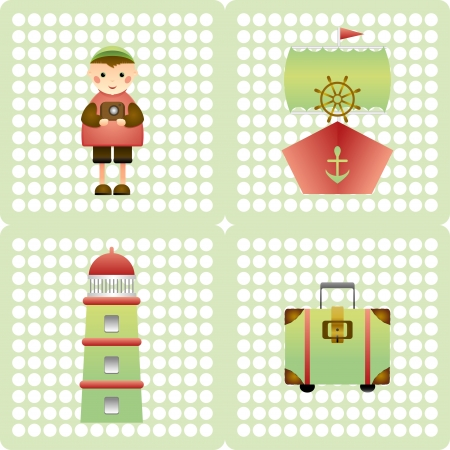 children s: a beautiful background for the children s package of gifts marine theme