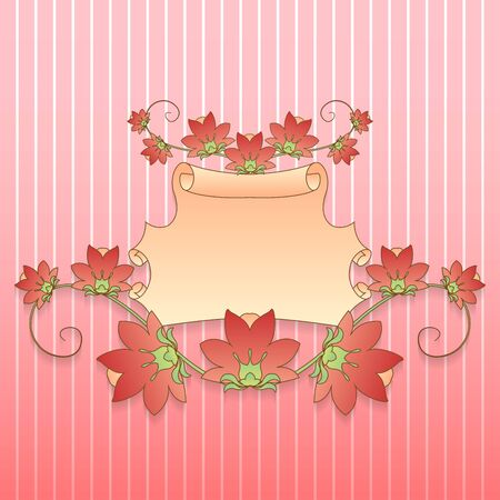 Festive frame in the flowers for text Stock Vector - 17511954