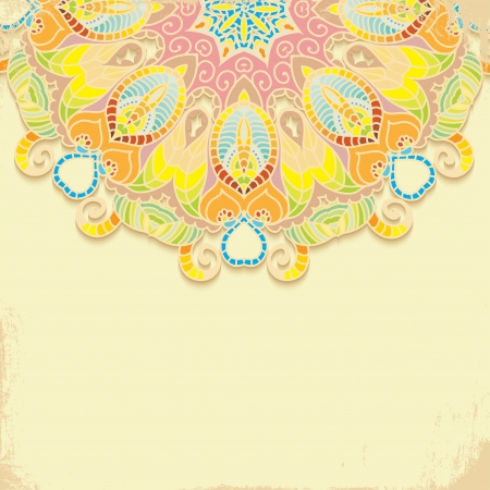 ornamentation: Elegant Indian ornamentation on a dark background  Stylish design  Can be used as a greeting card or wedding invitation