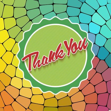 gratitudine: Grazie carta su sfondo colorato. Scheda Gratitudine per diverse occasioni.