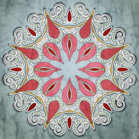 ornamentation: Elegant Indian ornamentation on a  beautiful background. Stylish design. Can be used as a greeting card or wedding invitation. Mandala.