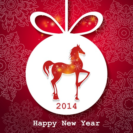 Happy New Year applique background. Vector illustration for your design. Vector