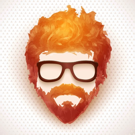 Hipster man. Vector illustration