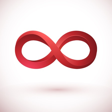 design symbols: Infinity spiral sign isolated on white background. Illustration