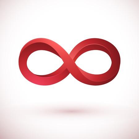 gaza: Signo del infinito espiral aislado sobre fondo blanco.