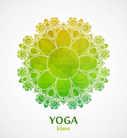 budha: Mandala. Flower circle design background with lace ornament