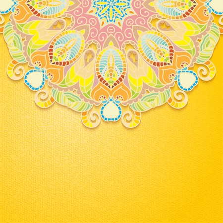 Elegant Indian ornamentation background  Stylish design  Can be used as a greeting card or wedding invitation Vector
