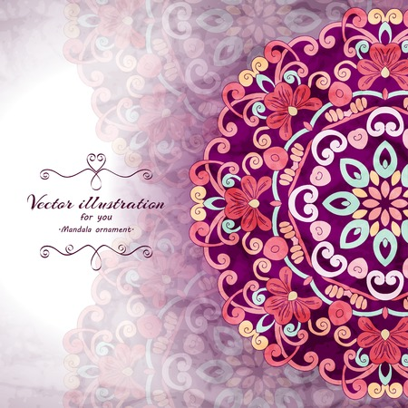 greeting card invitation wallpaper: Elegant Indian ornamentation background. Stylish design. Can be used as a greeting card or wedding invitation Illustration