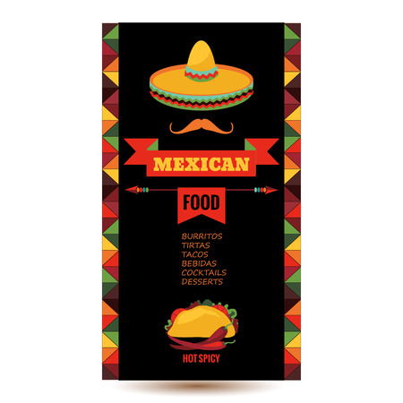 restaurants: Vector design template for Mexican restaurant.