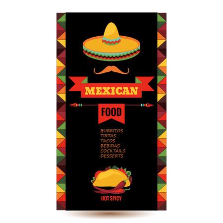 invitacion fiesta: Vector plantilla de dise�o para el restaurante mexicano.