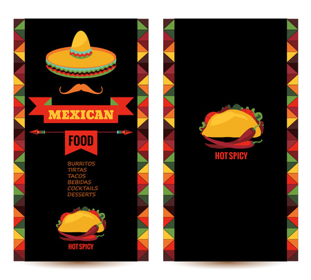 taco: Vector design template for Mexican restaurant.