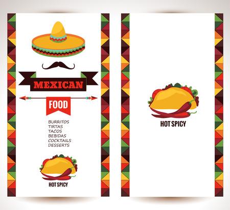 voedingsmiddelen: Vector ontwerp sjabloon voor Mexicaans restaurant.