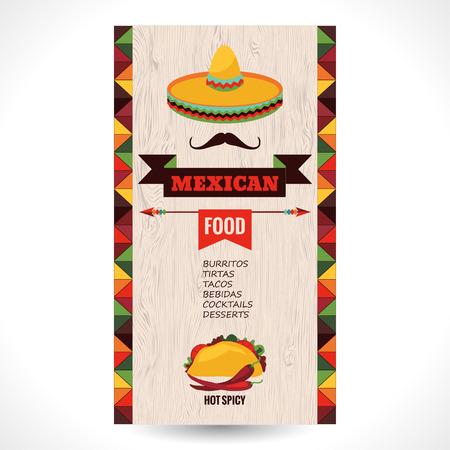 fond restaurant: Vecteur conception mod�le pour restaurant mexicain.