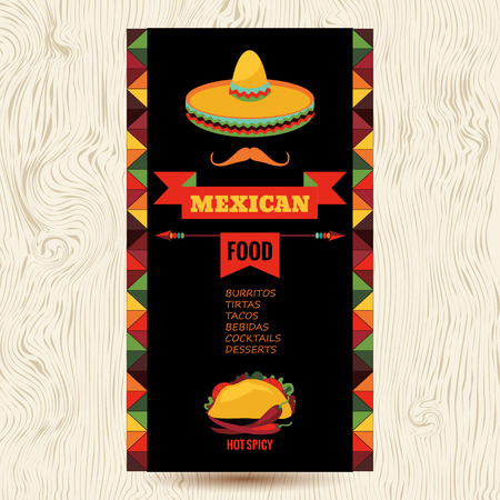 mexican background: Vector design template for Mexican restaurant.