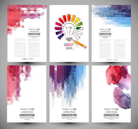 Abstract vector brochure, Web sites, page, leaflet, logo and text separately Vectores