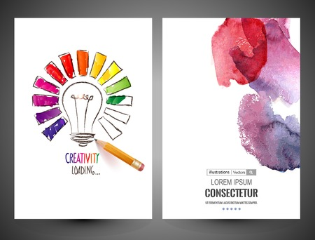 Abstract vector brochure, Web sites, page, leaflet, logo and text separately Vettoriali