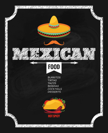 mexican party: design template for Mexican restaurant.