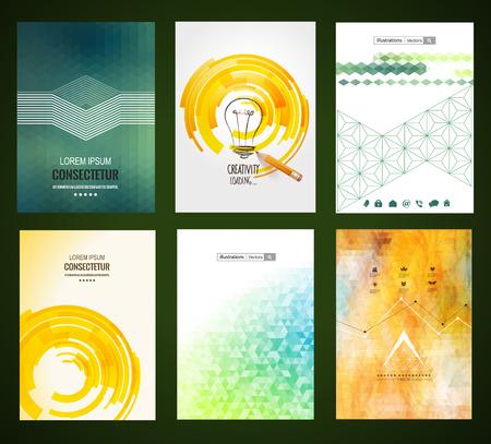 Abstrakt Broschüre Illustration