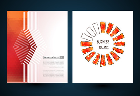 separately: Abstract vector brochure, Web sites, page, leaflet, logo and text separately Illustration