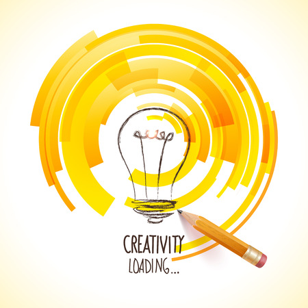 achievement concept:  symbol of creative business visions Illustration