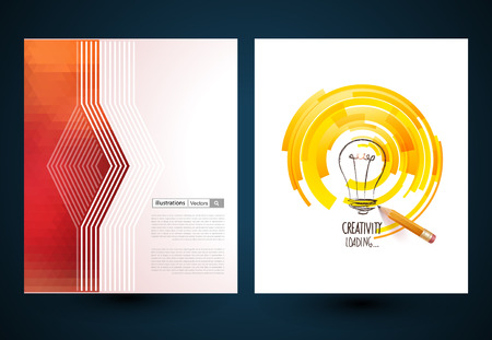 polygraphy: Abstract vector brochure, Web sites, page, leaflet, logo and text separately Illustration