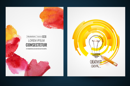 Abstract vector brochure, Web sites, page, leaflet, logo and text separately Ilustração
