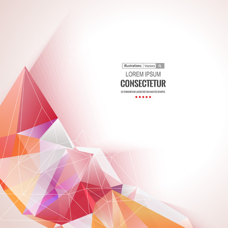Abstract polygons background with  composition with geometric shapes. Vectores