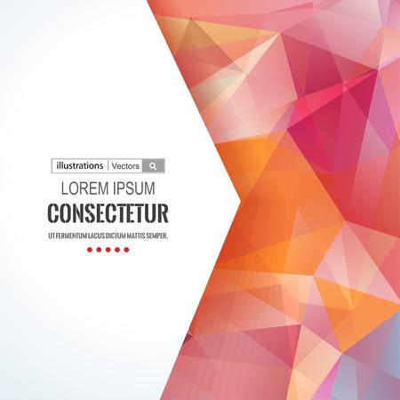 grafiken: Abstrakte Polygone Hintergrund mit Komposition mit geometrischen Formen. Illustration