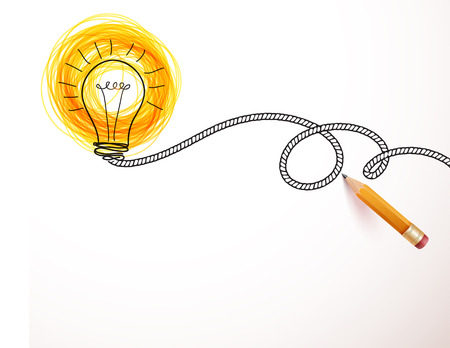 Kreative Idee geladen, Vektor-Konzept für Inspiration Vektorgrafik