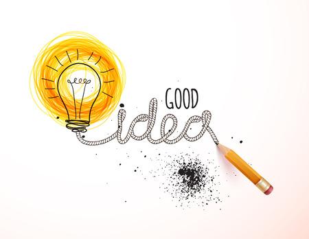 Creatief idee geladen, vector concept voor inspiratie Vector Illustratie