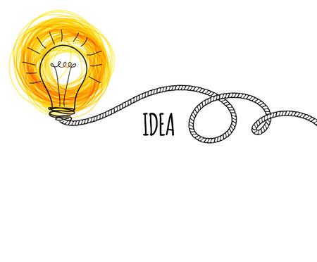Creative idea loaded, vector concept for inspiration Ilustração