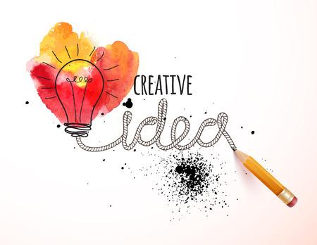 Creative idea loaded, vector concept for inspiration Stock Illustratie