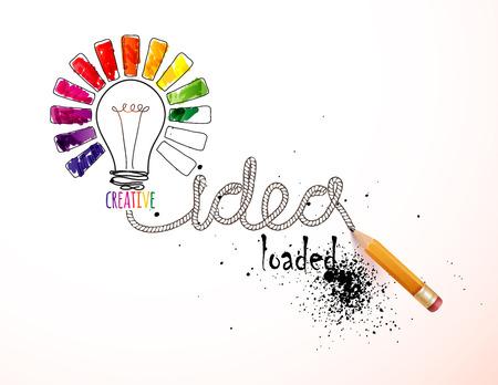 schöpfung: Kreative Idee geladen, Vektor-Konzept für Inspiration