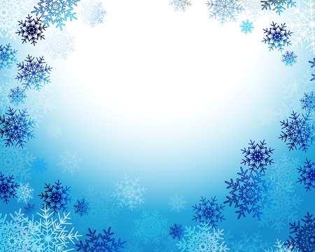 christmas blue: Christmas background with snowflakes and place for text. Vector Illustration. Illustration