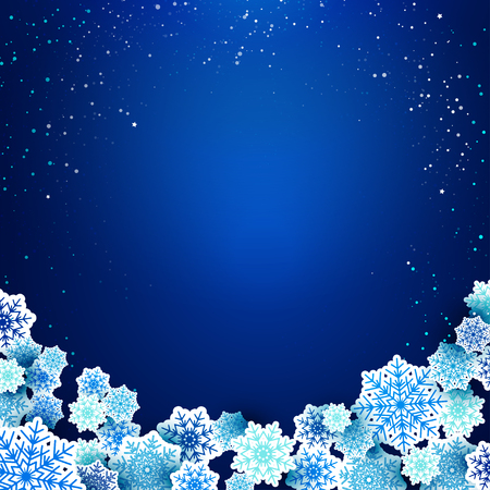 place for text: Christmas background with snowflakes and place for text. Vector Illustration. Illustration