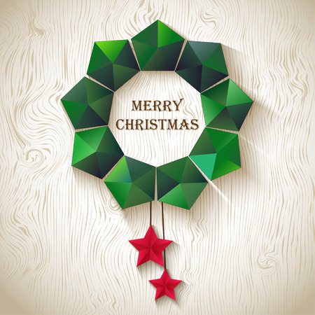 cristmas: Christmas wreath of geometric shapes. Cristmas  backgrounds Illustration