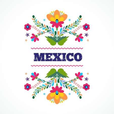 mexican culture: Beautiful invitation design ornament. page template