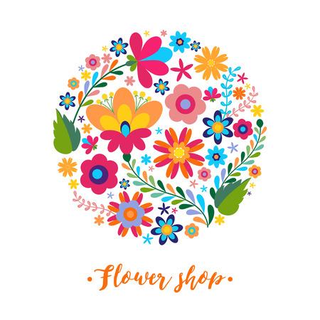 Unique floral design concept for beauty salon, organic cosmetics brand, flower shop. Unique floral design concept for beauty salon, organic cosmetics brand, flower shop Stock Vector - 60179879
