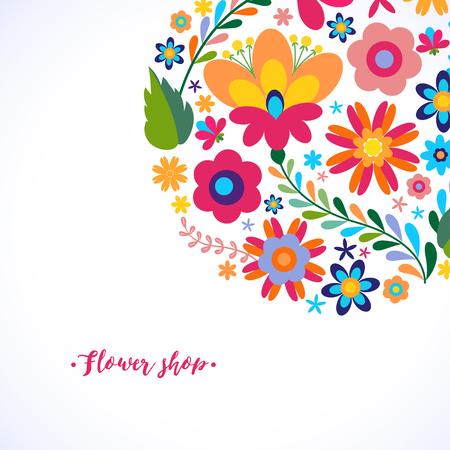 미용실, 유기 화장품 브랜드, 꽃 가게의 고유 꽃 무늬 디자인 개념입니다. 뷰티 살롱에 대한 독특한 꽃 무늬 디자인 개념, 유기 화장품 브랜드, 꽃 가게 일러스트