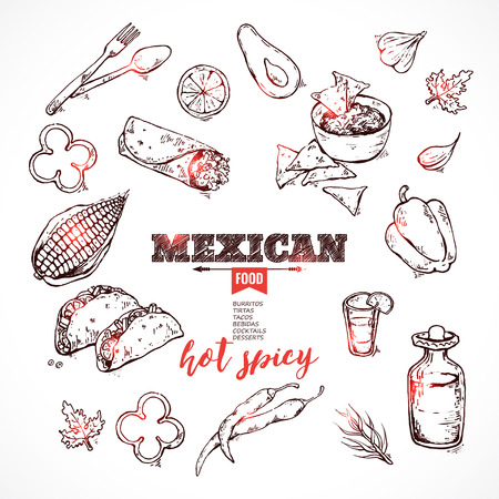 mexican restaurant: design template for Mexican restaurant. hot spices