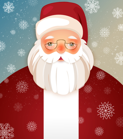 belt up: Cartoon Character Showing Merry Christmas Winter Illustration with Snowflakes. Xmas Poster