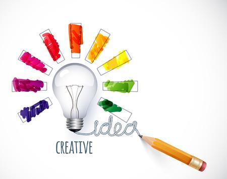 Idea. Design of progress bar, loading creativity Vettoriali