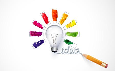 Idée. Conception de la barre de progression, le chargement de la créativité