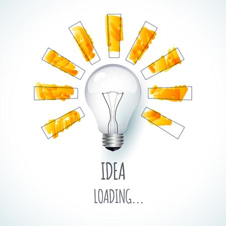 creativity design idea design of progress bar loading creativity illustration idea design - Idea Design